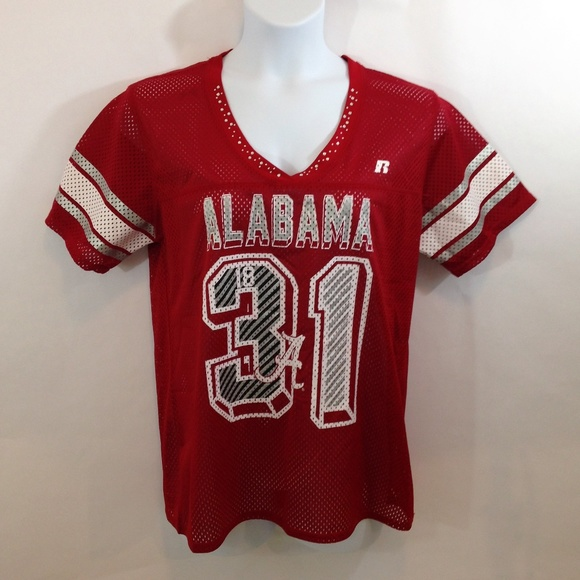online store 7d771 839c1 Alabama Crimson Tide #31 SS Football Jersey Bling.